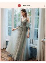 Женское фатиновое платье подружки невесты, длинное платье до пола с аппликацией, Сексуальные вечерние платья для выпускного вечера(Китай)