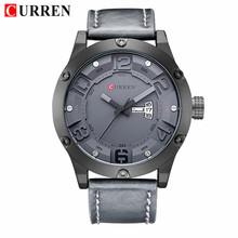 CURREN Мужские часы Топ люксовый бренд мужские военные спортивные часы мужские кварцевые часы мужские кожаные Наручные часы Relogio Masculino(Китай)
