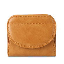 Маленькая сумка для мелочи из натуральной кожи, Женский мини-кошелек для монет, студенческий короткий кошелек, кошелек для карт(Китай)