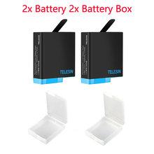 Аккумулятор TELESIN 3 + коробка для хранения для GoPro Hero 8, 7, 6, Hero 5, черная оригинальная сменная батарея, 3,85 В, 1200 мАч, аксессуары для аккумуляторов(Китай)