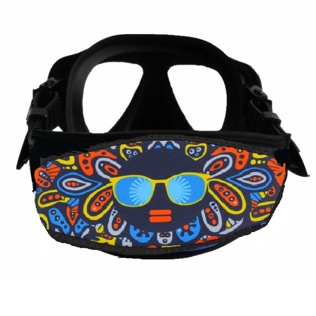 Scuba Diving Snorkel Mask 5mm Neoprene Funda Acolchada Protecci/ón Correa para el Cabello