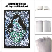 А5, 64 страницы, блокнот, сделай сам, художественная алмазная живопись, животные, рождественские пейзажи, специальная круглая Алмазная мозаик...(Китай)