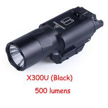 Светильник для вспышки Glock, тактический оружейный светильник X300UH-B X300U X300, пистолет, белый светодиодный светильник для охоты, 20 мм, Пикатинни(Китай)
