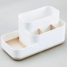 Горячая ванная комната макияж Органайзер коробка для хранения косметический Органайзер большой емкости витрина для макияжа чехол Кисть По...(Китай)