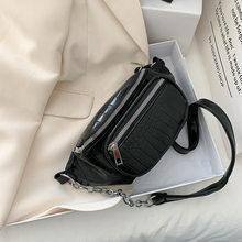 Поясная сумка с крокодиловым узором из искусственной кожи, поясная сумка для женщин, противокражная сумка через плечо, маленькая поясная су...(Китай)