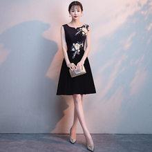 Платья для выпускного вечера 2020 It's Yiiya R260 элегантные платья для вечеринок с аппликацией трапециевидной формы с круглым вырезом без рукавов ...(China)