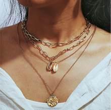 Винтажное жемчужное ожерелье для женщин, 17 км, многослойное ожерелье с узлом и жемчужной цепочкой, новинка 2020, колье-чокер с монетницей(Китай)