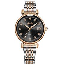 2020 SUNKTA новые женские часы из розового золота женские модные простые кварцевые часы женские топ брендовые роскошные женские часы Relogio Feminino(Китай)