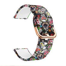Amazfit bip женские часы ремешок силиконовый ремешок для 20 мм группа galaxy watch active 1 2 40 44 мм/Garmin vivoactive 3(China)