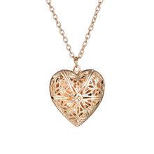 Стильное ожерелье с памятью, подарочное креативное ажурное ожерелье с кулоном, женское элегантное золотистое/серебристое ожерелье с узоро...(Китай)
