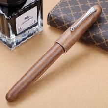 Jinhao новая деревянная перьевая ручка, высокое качество, 0,7 мм, 2 цвета, роскошные деревянные ручки с чернилами, деловые подарки, канцелярские и...(Китай)