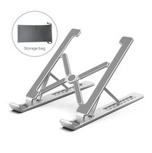 2020 НОВАЯ Портативная подставка для ноутбука с 7 углами, складная подставка для ноутбука, держатель для Macbook из алюминиевого сплава, кронштей...(Китай)