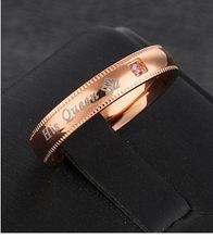 Модные кольца с буквами из розового золота с кристаллами для женщин, Винтажное кольцо с голубым кристаллом, ювелирные изделия для влюбленны...(Китай)