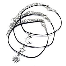 17KM 3 шт./компл., винтажный набор ножных браслетов, модный браслет на лодыжку звезда солнца для женщин и девочек, регулируемый ножной браслет ...(Китай)