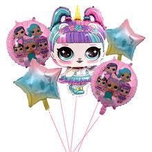 Оригинальные куклы lol surprise для детей, для девочек, для дня рождения, украшения, фон, воздушный шар, экшн-игрушки, алюминиевая пленка, подарки д...(Китай)