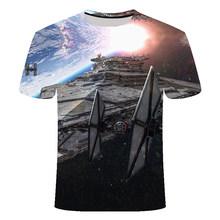 Новинка 2020, футболка с 3D принтом Лего, Звездные войны, мужская и женская летняя футболка с коротким рукавом, Забавные футболки, модная повсед...(Китай)