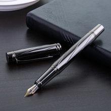 Роскошная перьевая ручка с серебряным покрытием, чернильная ручка, высокое качество, 0,5 мм, для школы, офиса, бизнеса, ручки для письма, канце...(Китай)