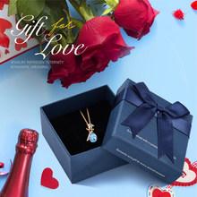 Cdyle, романтические женские цепочки, Золотая Роза, ожерелье в форме капли воды с белым кристаллом от Swarovski, ювелирные изделия для подружек нев...(Китай)