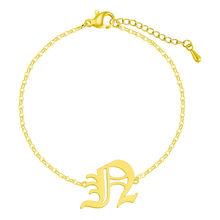 Женский браслет с буквенным принтом в старом английском стиле, розовое золото 26 A-Z, подарок на день рождения(Китай)