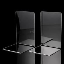 2 шт прозрачный акриловый держатель для книг l-образный Настольный органайзер для книг школьные канцелярские принадлежности офисные аксесс...(Китай)