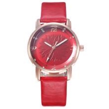 Модные женские кожаные повседневные часы, Роскошные Аналоговые кварцевые наручные часы с кристаллами, повседневные часы, женские наручные ...(Китай)