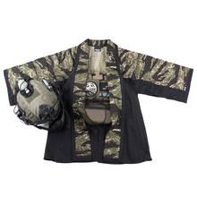 BACRAFT уличная тактическая куртка тренировочный плащ боевой Haori куртка-(Тигр пятно + черный) M/L(Китай)
