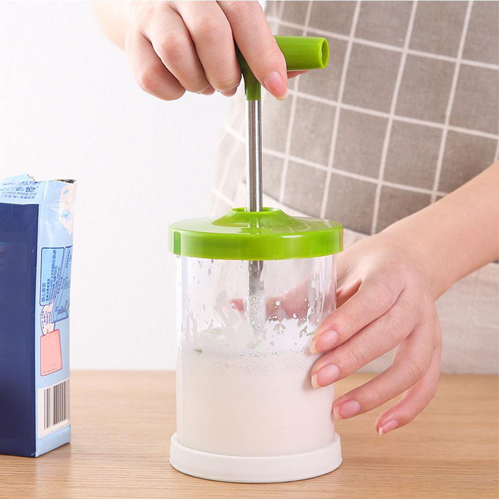 Ручные молочные фритюрницы инструменты крем Виппер ручной Homemaker многоцелевой пенообразователь кувшин DIY ABS ручной насос магазин для кофе(Китай)
