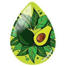 JWEIJIAO милый фруктовый авокадо изображение слеза в форме капли стеклянный купол DIY брелок ожерелье кулон ювелирные изделия аксессуары ручной...(Китай)