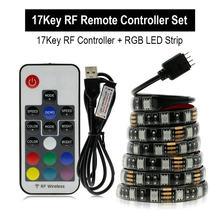 USB RGB Светодиодная лента 5050 DC5V водонепроницаемый гибкий светодиодный светильник лента 0,5 м 1 м 2 м изменяемый цвет для ТВ фоновый светильник ing(Китай)