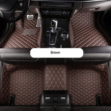 Автомобильные коврики на заказ для Tesla Model 3 2017-2020/автомобильные аксессуары из искусственной кожи, водонепроницаемые коврики, нескользящий А...(Китай)