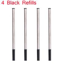 Высококачественный роскошный брендовый металлический роллер, шариковая ручка синего цвета, Мужская ручка для письма, 2 ручки, подарок(Китай)
