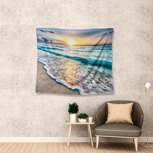 Windows Обои для рабочего стола гобелен живописный гобелен летние пляжные горные гобелены морской залив домашний декор большой размер декор д...(Китай)
