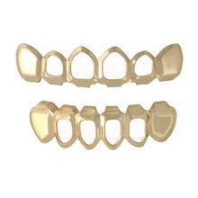 Ювелирные изделия для зубов серебро/золото зубы Grillz хип-хоп ЗУБЫ капельные грили зубные верхние и нижние грили колпачки для зубов Косплей В...(Китай)