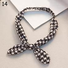 2020 Ретро головная повязка с принтом заячьих ушек узелковая эластичная повязка на голову крест тюрбан для женщин девочек цветочный головной...(Китай)