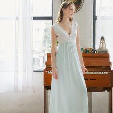 Летняя одежда для сна 2020, винтажная белая хлопковая ночная рубашка размера плюс, Женская домашняя одежда, ночное платье для свадьбы, ночное ...(Китай)
