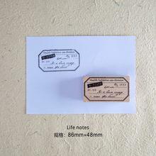 Journamm прозрачные штампы винтажные Diy деревянные резиновые печатные штампы для журналов Diy деко для скрапбукинга ремесленные штампы Bullet Journal(Китай)