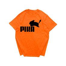 Новый модный принт Футболка с покемонами аниме Pika Для мужчин футболки с изображением Пикачу командная футболка, рубашка с изображением 100% х...(Китай)