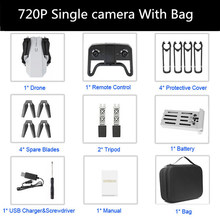 Новейший Дрон 4K 720P HD, мини-камера, RC, складной Квадрокоптер, Wi-Fi, FPV, Селфи, оптический поток, Квадрокоптер, RC вертолет(China)