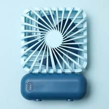 1 комплект мини вентилятор Usb Перезаряжаемый студенческий портативный вентилятор батареи ручной бесшумный мощный многоцветный креативный ...(Китай)