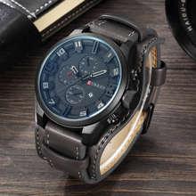 CURREN 8225, мужские часы, водонепроницаемые, Топ бренд, Роскошные, с календарем, модные мужские часы, кожа, спортивные, военные, мужские наручные ...(Китай)