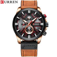 CURREN новые специальные цветные мужские часы, спортивные часы уникального дизайна, водонепроницаемые и прочные кварцевые мужские часы(Китай)