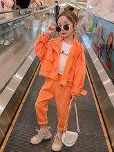 Костюм для детей, одежда для подростков, девочек комплект 2020 осенние повседневные куртки и штаны для детей спортивный костюм Школьная обувь...(Китай)