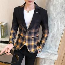 Мужской Блейзер, блейзер в клетку, в английском стиле, на весну 2020(Китай)