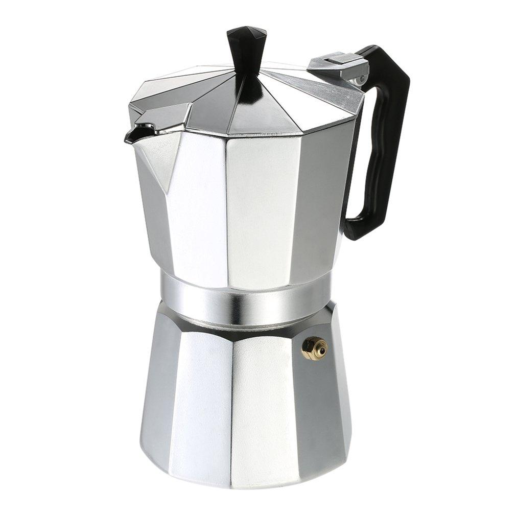 Алюминиевый кофейник 3Cup/6Cup/9Cup/12Cup кофеварка эспрессо Перколятор плита Mocha Чайник электрическая плита(Китай)