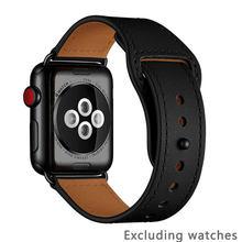 Ремешок для часов apple watch, ремешок из натуральной кожи для iwatch 3/2/1, 38/42/40/44 мм, аксессуары для часов Apple Watch 4/5(Китай)