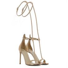 2020 г. Летние босоножки на тонком высоком каблуке размера плюс 48 женские вечерние туфли-лодочки на каблуке 10 см с открытым носком босоножки д...(Китай)