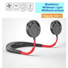 Портативный мини-вентилятор для шеи, USB, портативный, спортивный, беспроводной, настольный, перезаряжаемый вентилятор, воздухоохладитель, к...(Китай)