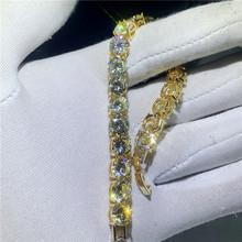 8 стильный трендовый женский браслет с белым золотом AAAAA Циркон cz серебряные цвета свадебные браслеты для женщин модные ювелирные украшения(Китай)