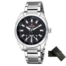 Бренд NAVIFORCE, мужские часы, Бизнес Кварцевые часы, мужские часы из нержавеющей стали, 30 м, водонепроницаемые наручные часы, Relogio Masculino(China)