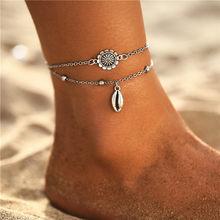 Женский многослойный браслет с цепочкой IF YOU Bohemia, модный металлический браслет на ногу, Пляжная бижутерия 2020, Новинка(Китай)